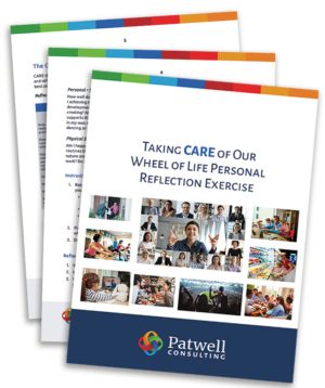 Photo of the cover for Taking CARE of Our Wheel of Life exercise book